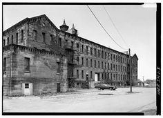 5.  NORTHEAST (REAR) ELEVATION FROM THE EAST - Cannelton Cotton Mill, Front & Fourth Streets, Cannelton, Perry County, IN