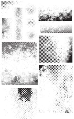 Free Vectors - 28 Halftone Vectors (Clean & Grunge Versions)