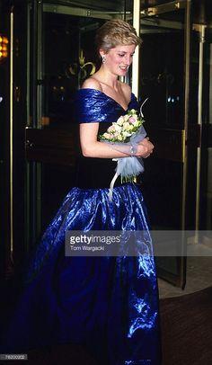 London October 1986 - Princess Diana at 'Starlight' Cabaret - Hilton Hotel, Park Lane