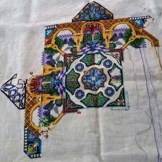 """Chatelaine's """"Alhambra Garden Mandala"""""""