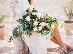 Seaside Bohemian Bridal Session Inspiration | Wedding Invitations Idea