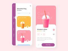 Smoothie designed by Givi Dautashvili. Connect with them on Dribbble; Web Design Trends, Design Websites, Application Ui Design, Interaktives Design, App Ui Design, Flat Design, Site Design, Graphic Design, Design Android