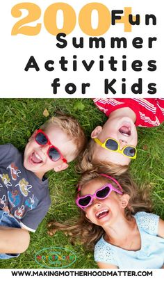 Ready to have the best summer ever? Here you'll find everything you need for fun summer activities for kids and toddlers too. This includes a printable summer bucket list of 50 activities, a list of over 100 activities for kids, 150 rainy day activities, Outdoor Activities For Toddlers, Rainy Day Activities, Summer Activities For Kids, Indoor Activities, Camping Activities, Children Activities, Camping Tips, Family Activities, Camping Cabins