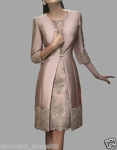 Long Pink Lace Jacket Mother Of the Bride Dresses Women Formal Occasion Outfits
