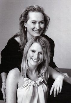 Meryl Streep with her daughter Mamie Gummer        via suicideblonde: bohemea: