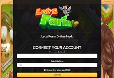 Let's Farm Unlimited Diamonds Unlimited Coins Online Hack and Cheats http://aifgaming.net/lets-farm-online-hack-cheats/