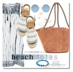 """""""Beach Totes."""" by dazedandconfused ❤ liked on Polyvore featuring The Row, Monsoon, Sunday Somewhere and beachtotes"""