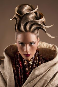 #hairstyle #hairdo #updo #braid #modern #avantgarde #new