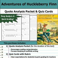 huckleberry finn packet The adventures of huckleberry finn name – mark twain masterprose study  questions chapter 1-4 1 what does twain accomplish by using huck as  narrator.