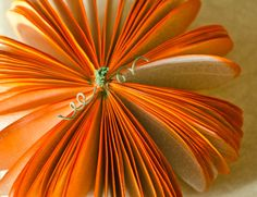 Medium+Pumpkin+made+from+Book+Pages++Orange+by+AnthologyOnMain,+$20.00