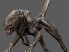 Creature Sculpt Based on Kenbarthelmy Concept art! by doctanx0013.deviantart.com on @deviantART