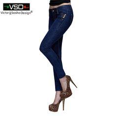 Barato 2016 Moda Jeans Skinny Jeans Mulher Outono Nova Calça Jeans Lápis Para mulheres Calça Jeans de Cintura Baixa das Mulheres de Forma Magro Azul Denim Impresso calças, Compro Qualidade Calças de brim diretamente de fornecedores da China: Venda quente Jeans Skinny Mulher Outono Nova 2015 Calça Jeans Lápis Para mulheres Da Moda Azul Magro Calça Jeans de Cint
