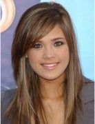 Light Brown Hair with Side Bangs, Long Straight Hairstyles