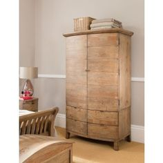 Salisbury Range Bright And Translucent In Appearance Armoires & Wardrobes Furniture Frank Solid Rustic Oak Triple Wardrobe With Drawers