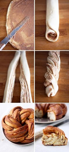Cinnamon roll knot for a brunch, so pretty Use with the bread machine recipe I love!