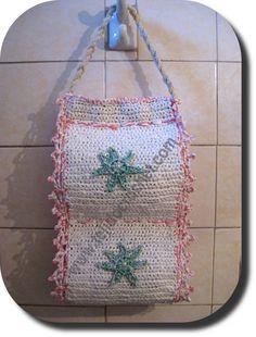 Porta rollo papel higienico en tejido crochet