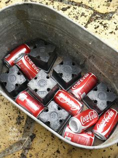 Use empty soda cans at the bottom of a plater to make it lighter!