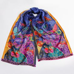 Cats with Butterflies Scarf