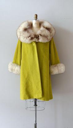 Lilli Ann fox fur collar coat / vintage 1960s wool by DearGolden