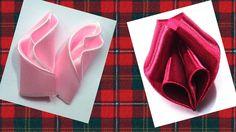 Ribbon flower petals Tutorial Kanzashi Tatiana Vasyliuk, Лепестки для цв...