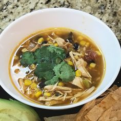 Leftover turkey tortilla soup! Yummy!!