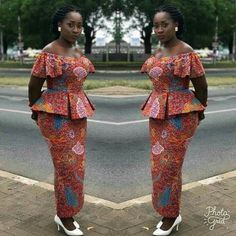 Looking for the Best Ankara skirt and blouse styles? Pictures of The Latest Ankara Skirt and Blouse Styles in […] Latest African Fashion Dresses, African Dresses For Women, African Print Fashion, African Attire, Ankara Fashion, Africa Fashion, African Lace Styles, Ankara Styles, Traditional African Clothing