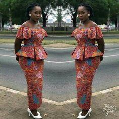 Elegant and Lovely Ankara Skirt and Blouse Styles 2019