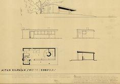 Alvar Aallon suunnittelema Konsoli vältteli vanhan talonpoikaisarkkitehtuurin muotoja.