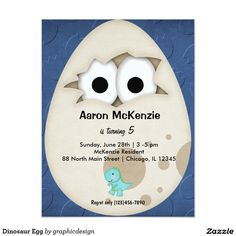 * Sold this #dinosaur #egg #invitations to NC. Thanks for you who purchased this. Check more at www.zazzle.com/graphicdesign/dinosaur