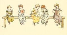 Kate Greenaway 1910 from The Marigold Garden - At School