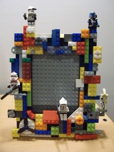 pinterest 365 day 290: lego picture frames  a fun activity for dad and the kids