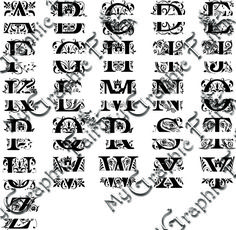 Regal Font Split Monogram SVG - My Graphic Fairy