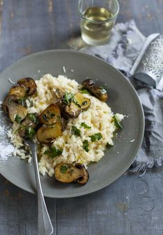 Cooking the rice and porcini separately is the secret to my mushroom risotto. It keeps the flavours fresh and vibrant and gives variation while you eat – one moment you're biting into meaty sautéed porcini, the next creamy Parmesan risotto. Not even Stella could resist!