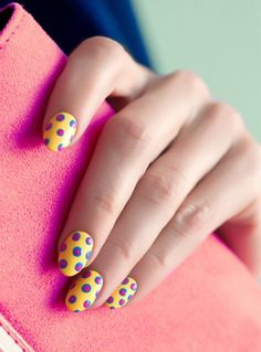 3D dot nails. (Click through for a step by step video.)