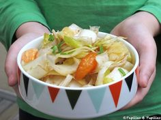 Salade endives mozzarella vieux cheddar aillet