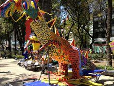 Alebrije along Paseo de la Reforma in Mexico City