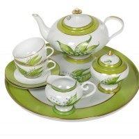 Limoges Porcelain Tea Service - Lily of the Valley/Muguet Floral Laura Lee, Tea Cup Saucer, Tea Cups, Sugar Pot, Love Vintage, Bowls, Tea Glasses, Rose Of Sharon, Teapots And Cups