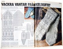 Mittens :) (In Swedish) Knitted Mittens Pattern, Knit Mittens, Knitted Gloves, Knitting Socks, Knitting Charts, Knitting Stitches, Knitting Designs, Knitting Patterns, Knitting For Charity