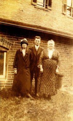 Ermina Genetti, Henry Branz, Oliva Zambotti Genetti - photographed about 1920's.