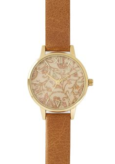 Hour Garden Watch. With this Olivia Burton watch on your wrist, the passing of time is as pretty as the view out your window. #tan #modcloth