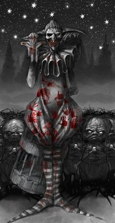 I love Art ,Horror and other nice things. Clown Cirque, Gruseliger Clown, Creepy Clown, Creepy Art, Dark Fantasy Art, Dark Art, The Crow, Clown Film, Evil Jester