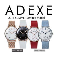【新作モデルのお知らせ】 お待たせいたしました。 2018年サマー限定モデルが登場します! シックな着こなしにぴったりエッジのきいた『Cool Collection』2モデルコーディネートのポイントカラーとしてお使いいただける『Sweet Collection』2モデル 6月12日(火)00:00から販売開始です!
