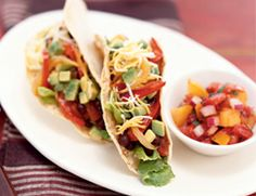 Black Bean Tacos with Roasted Peppers and Onions Recipe | Vegetarian Times