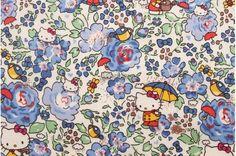 Liberty tana lawn - Felicite Hello Kitty printed in Japan - Navy blue mix. $11.50, via Etsy.