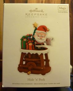 2011 Hallmark Hide 'N' Peek Keepsake Ornament #1 in Series RARE w/Original box