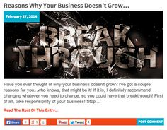 Reasons Why Your Business Doesn't Grow… http://katielendel.com/reasons-business-doesnt-grow/