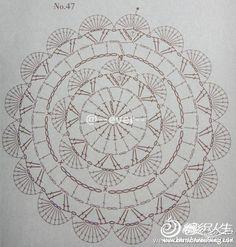 beautiful circle crochet motif 1