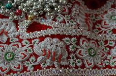 Intricate and colourful beadwork