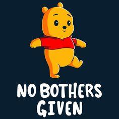 428669b5 No Bothers Given T-Shirt Disney via TeeTurtle Winnie The Pooh Shirt, Winnie  The