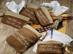 Feedsack Collection #handbag #fashion #wrislet #coinpurse #crossbody #reduce #reuse #recycle